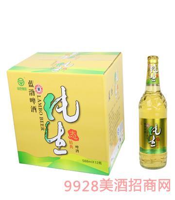 蓝渤啤酒纯生态罐装588mlx12瓶