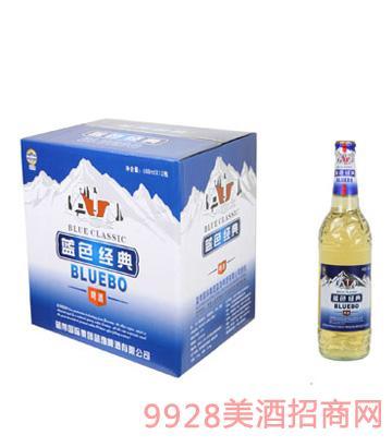 蓝渤啤酒蓝色经典488mlx12纸箱