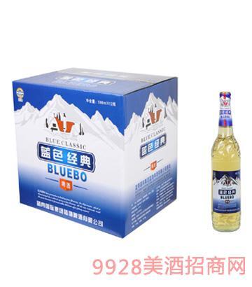 蓝渤啤酒蓝色经典588mlx12纸箱