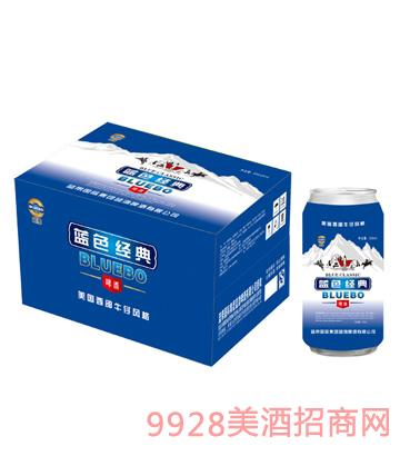蓝渤啤酒蓝色经典罐装500mlx12纸箱