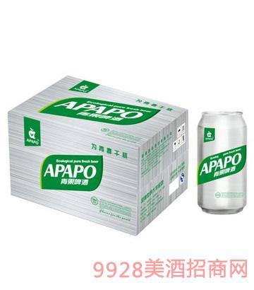 青果啤酒500mlx12易拉罐装纸箱
