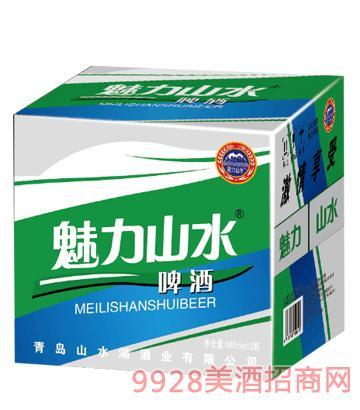 魅力山水啤酒480mlx12箱装