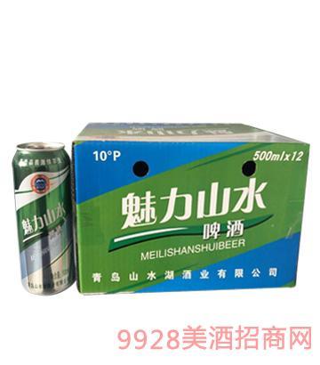 魅力山水啤酒10度500mlx12