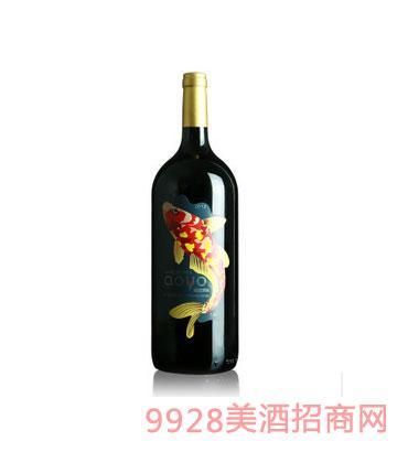傲鱼珍藏赤霞珠红酒1.5L
