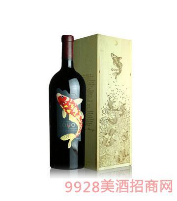 傲鱼珍藏赤霞珠红葡萄酒