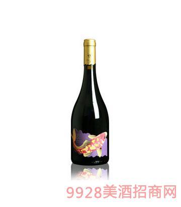 傲鱼珍藏黑品诺红酒