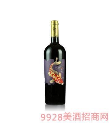 傲鱼珍藏色拉子红酒