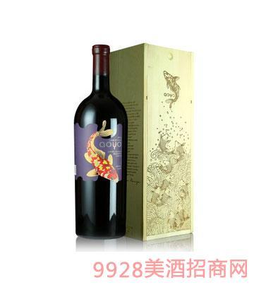 傲鱼珍藏色拉子红葡萄酒3L