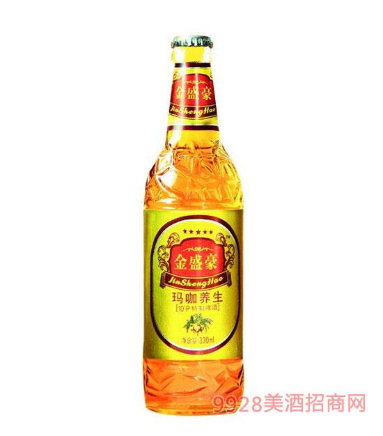金盛豪玛咖养生啤酒330ml