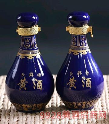 长升源黄酒250ml双胞胎蓝瓷