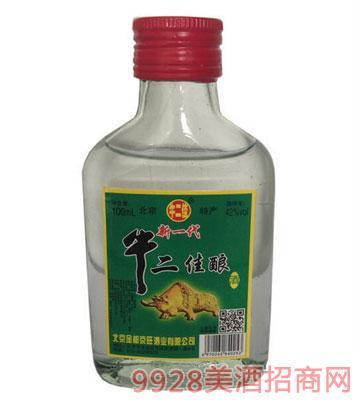 牛二佳酿酒100ml小白瓶
