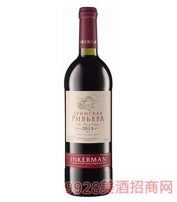 克里米亚海滨红葡萄酒