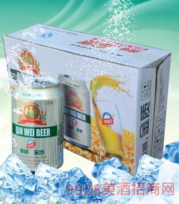 320mlx24罐 滨威金质啤酒