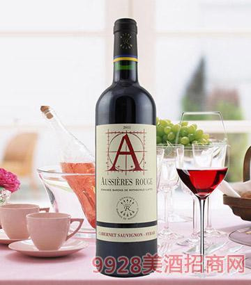 法国奥希耶红A干红葡萄酒