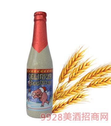 粉象圣诞啤酒330ml瓶装