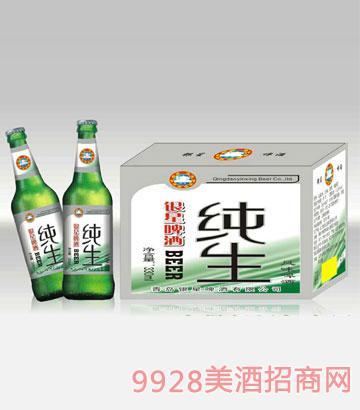 银星纯生啤酒330ml(绿瓶)