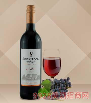 黑地珍藏美乐红葡萄酒