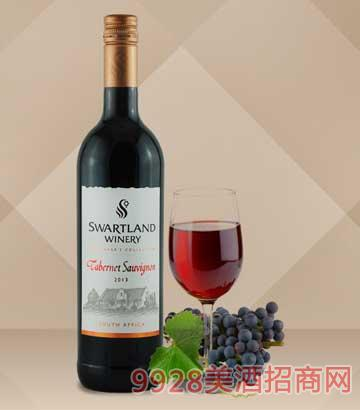 黑地珍藏赤霞珠红葡萄酒