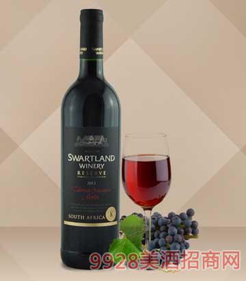 黑地珍藏赤霞珠 美乐红葡萄酒