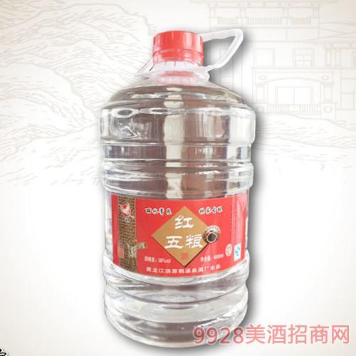 红五粮桶装酒