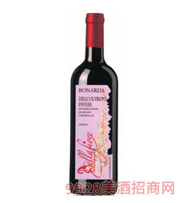波纳达微甜红葡萄酒