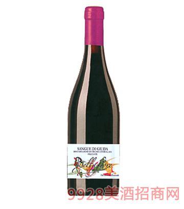 犹大之血弱起泡型微甜红葡萄酒