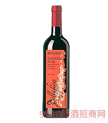 波纳达弱起泡型干红葡萄酒