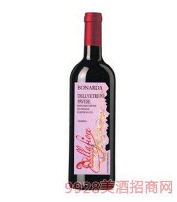 波纳达弱起泡型微甜红葡萄酒