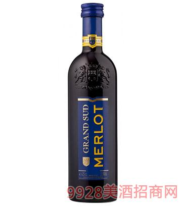 法国格兰苏美洛红葡萄酒250ml