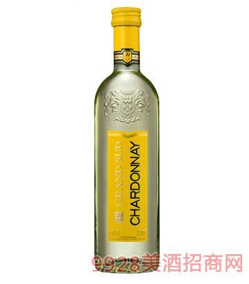 法国格兰苏霞多丽白葡萄酒250ml