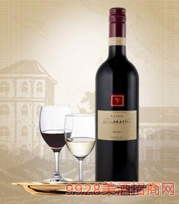 宣言马尔贝克红葡萄酒