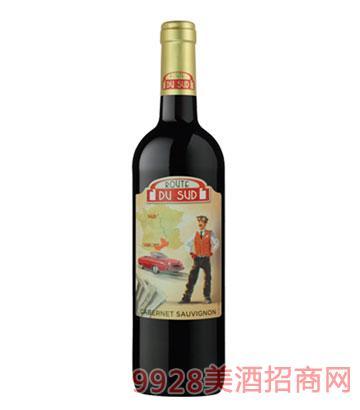 南法风情旅行家红葡萄酒