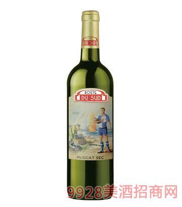 南法风情运动员白葡萄酒