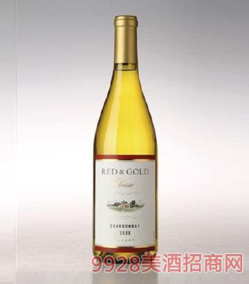 黄金加州红霞多丽葡萄酒