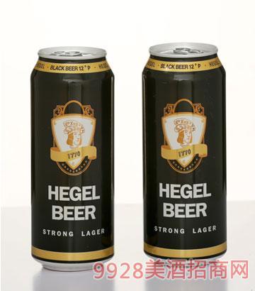 500ML黑格尔罐装黑啤酒