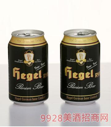 320ML黑格尔罐装啤酒