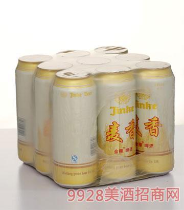 麦香金稞啤酒塑包500ml