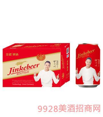 金稞啤酒红罐