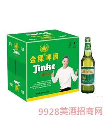 金稞瓶装啤酒绿瓶箱装500ml