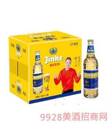 10°蓝标金稞啤酒箱装