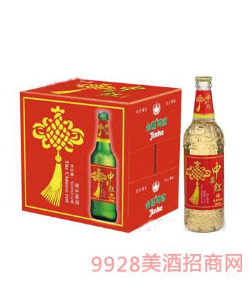 金稞瓶装啤酒中国红