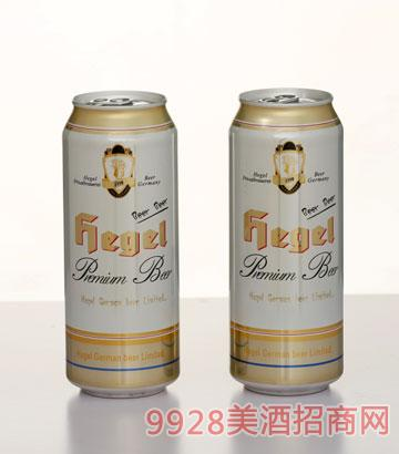 500ml黑格尔罐装白啤酒