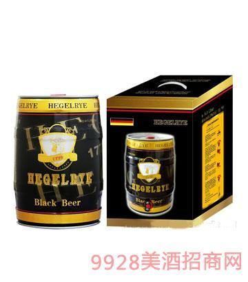 黑格尔黑啤5L箱装