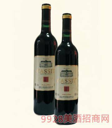 青岛卡斯特美乐干红葡萄酒13%vol750ml