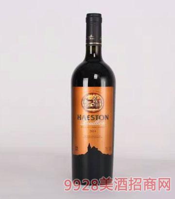赫斯頓純金干紅葡萄酒