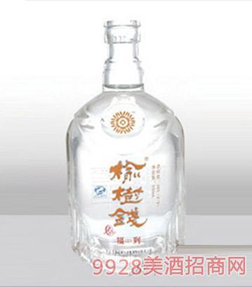 郓城龙腾包装精白玻璃瓶-504榆树钱酒-500ml