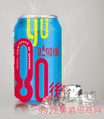 8090后青春活力啤酒蓝罐