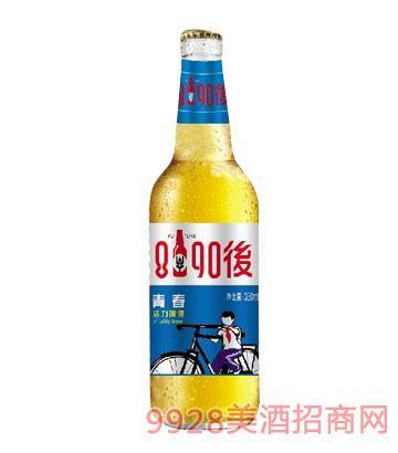8090后青春活力啤酒500ml白瓶装