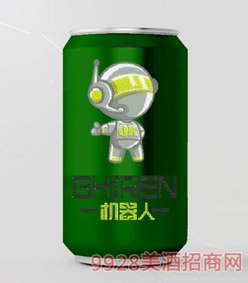 机器人啤酒330ml小白系列绿罐