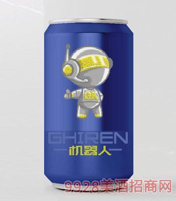 机器人啤酒330ml小白系列蓝罐